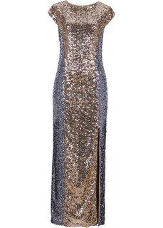 Платье (черный/серебристый) Bonprix