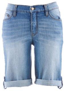 Джинсовые шорты-стретч (нежно-голубой выбеленный) Bonprix