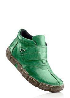 Кожаные ботинки (черный) Bonprix