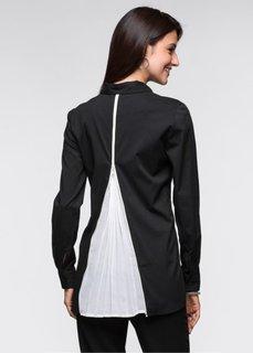 Блузка (черный/цвет белой шерсти) Bonprix