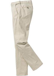 Брюки-стретч ЧИНО Regular Fit Straight, низкий + высокий рост (U + S) (черный) Bonprix