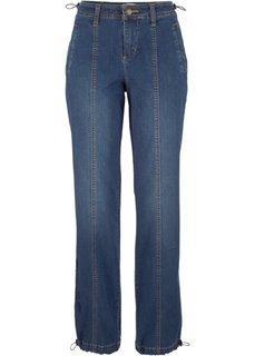 Джинсы-стретч WIDE с вышивкой, cредний рост (N) (голубой) Bonprix