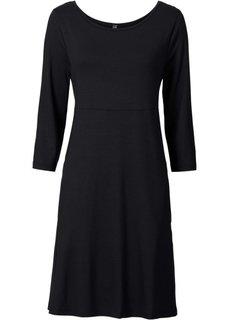 Трикотажное платье (серый меланж) Bonprix