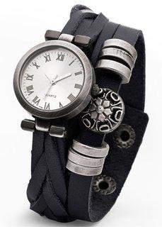 Изысканные часы на кожаном ремешке (коричневый) Bonprix