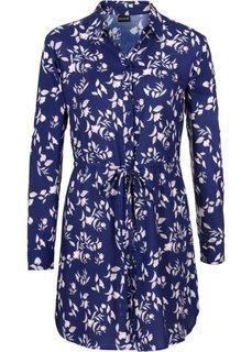 БАЗОВЫЙ ГАРДЕРОБ: платье-рубашка (черный/цвет белой шерсти в пол) Bonprix