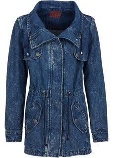 Джинсовая куртка-парка (черный «потертый» «мраморный») Bonprix