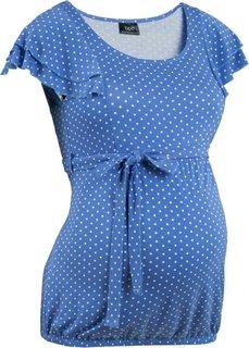 Мода для беременных: праздничная футболка (цвет белой шерсти/черный в гор) Bonprix