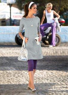 Платье (светло-серый/белый меланж) Bonprix