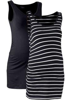 Мода для беременных: танк-топ (2 шт.) (клубничный + клубничный/белый ) Bonprix