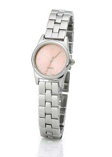 Часы на металлическом браслете (золотистый/нежно-мятный) Bonprix