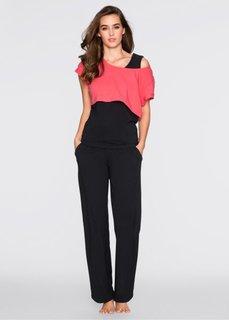 Пижама 3 в 1 (нежный ярко-розовый/черный/нек) Bonprix