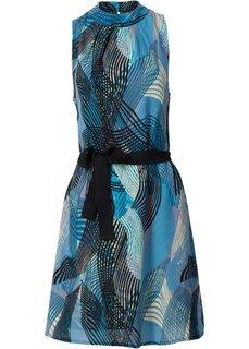 Платье (синий/бирюзовый с рисунком) Bonprix