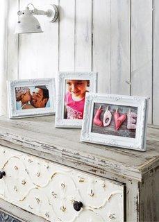 Рамки для фотографий Орнамент (3 шт.) (белый) Bonprix