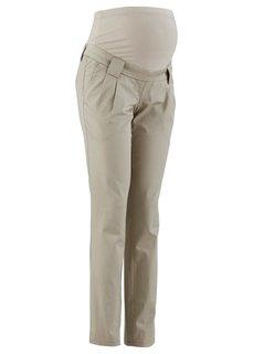 Прямые брюки для беременных, со складками у пояса (темно-синий) Bonprix