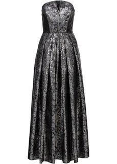 Длинное корсажное платье (кремовый) Bonprix