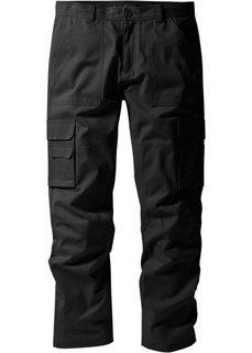 Брюки-карго Regular Fit Straight, низкий + высокий рост (U + S) (темно-оливковый) Bonprix