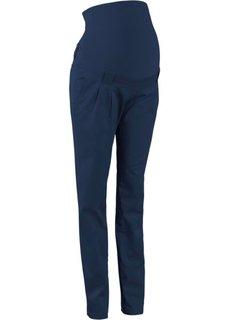 Прямые брюки для беременных, со складками у пояса (песочный) Bonprix