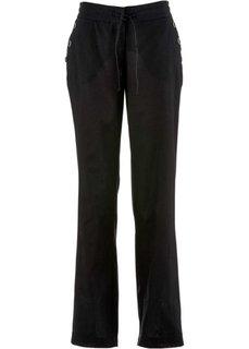Свободные льняные брюки (ночная синь) Bonprix