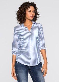 Блузка в полоску (ледниково-синий/белый в полоск) Bonprix