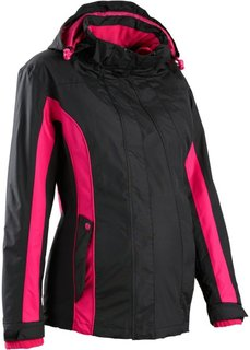 Функциональная куртка 3 в 1 со съемной вставкой (бирюзовый матовый/шиферно-серы) Bonprix