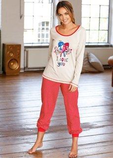 Пижама (различные расцветки с рисунком) Bonprix