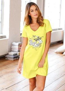 Ночная рубашка (нежно-желтый с рисунком) Bonprix