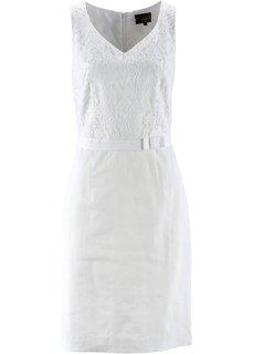 Льняное платье класса Премиум (омаровый) Bonprix
