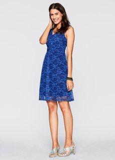 Трикотажное платье (ночная синь в цветочек) Bonprix