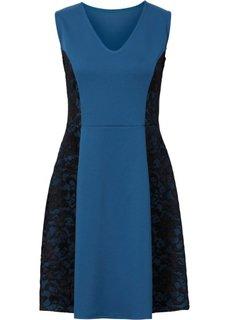 Платье с кружевными вставками (ярко-розовый/черный) Bonprix