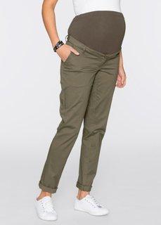 Для будущих мам: брюки-чино (темно-оливковый) Bonprix