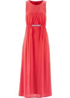 Вечернее платье Премиум с двухслойной оптикой (цвет белой шерсти) Bonprix