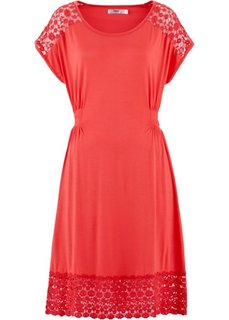 Трикотажное платье с коротким рукавом (лиловый) Bonprix