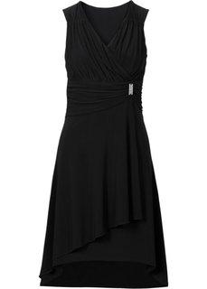 Платье с аппликацией (синий) Bonprix