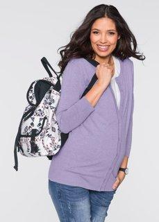 Мода для беременных: легкий кардиган (меланжевый цвет мальвы) Bonprix