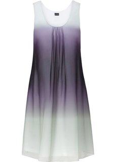 Шифоновое платье (дымчато-розовый батик/красная ) Bonprix