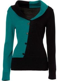 Пуловер (нежная фуксия/черный) Bonprix