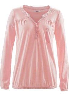 Трикотажная блузка с длинным рукавом (светло-серый меланж) Bonprix