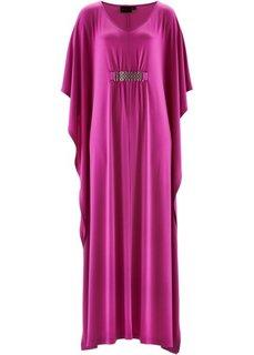 Трикотажное платье с цепочкой ПРЕМИУМ (темно-коричневый) Bonprix