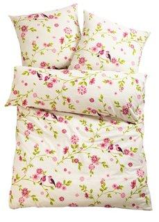 Постельное белье Эмилия, фланель (розовый) Bonprix