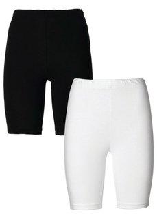 Брюки (2 пары) (светло-серый меланж/черный) Bonprix