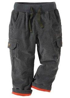 Вельветовые брюки (темно-коричневый) Bonprix