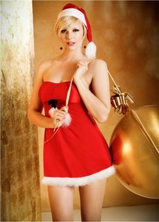 Новогоднее платьице + шапочка (2 изд.) (красный) Bonprix