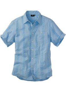 Рубашка Regular Fit из материала сирсакер (белый) Bonprix