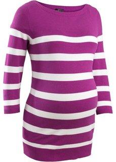 Мода для беременных: пуловер в полоску (ночная синь/белый в полоску) Bonprix