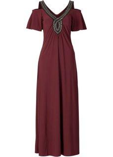 Макси-платье с бусинками (темно-синий) Bonprix