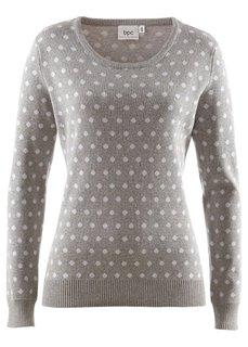 Пуловер (темно-синий/белый в горошек) Bonprix