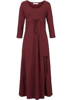 Трикотажное платье с рукавом 3/4 (черный) Bonprix