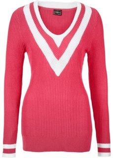 Пуловер (цвет белой шерсти/темно-синий) Bonprix