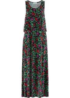 Трикотажное платье 2 в 1 (черный) Bonprix