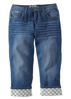 Джинсы капри, cредний рост (N) (голубой выбеленный «потертый») Bonprix